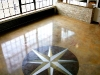 Compass Rose on Concrete Floor