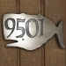 Whale House Numbers Plaque