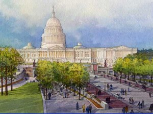 U.S. Capitol Visitor Center Watercolor Image