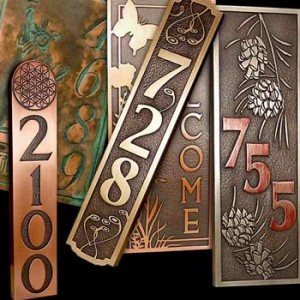 Image Gallery house numbers and plaques