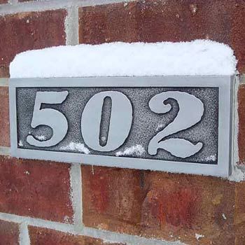 Calypso Address Numbers in Pewter - March 29, 2009, Lake Mills WI USA