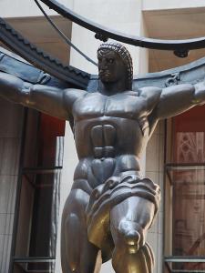 Massive Figure of Atlas at Rockafeller Center, New York