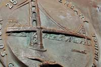 Close-up of Golden Gate Bridge Plaque