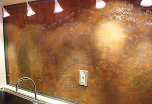 Kitchen Backsplash, Iron with Rust Patina