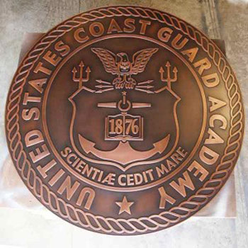 Atlas Signs and Plaques Completes a 5-Foot Diameter Copper Plaque for the U.S. Coast Guard Academy