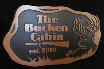 The Bucken Cabin Plaque