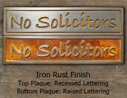 Mini No Solicitor with Iron Rust Finish