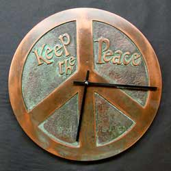 Photo of Peace Sign Clock