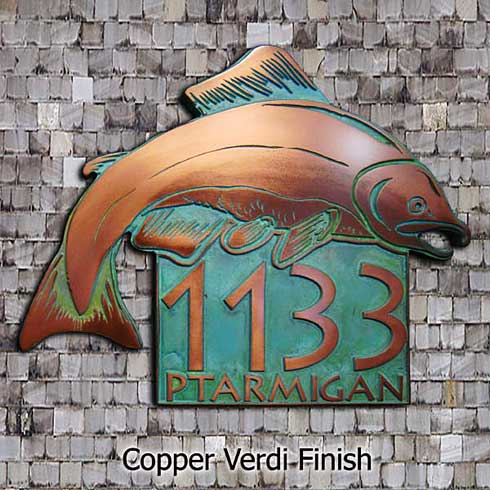 New Salmon Fish Address Plaque