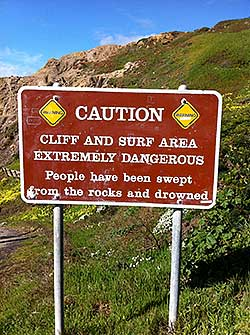 Swept Away sign at Sutro Baths