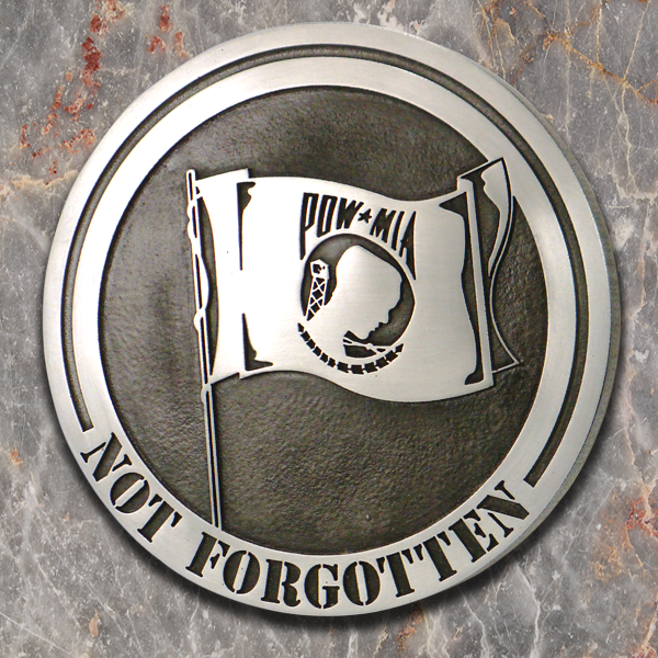 Pewter POW MIA Sign