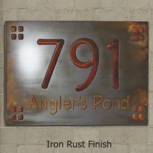 Frank Lloyd Wright style sign