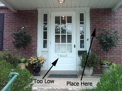 52d339e8a0f7 Where Do I Hang My House Numbers Address Plaque? - CustomASAPblog ...