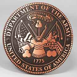 United States Army Plaque in Copper Finish