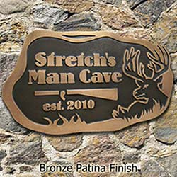 Buck Personalized Man Cave Sign