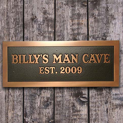 Copper finished Man Cave Sign