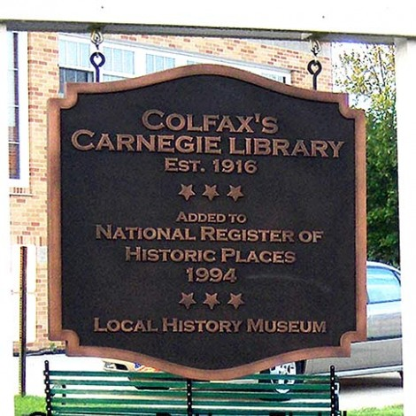 Copper finish sign for museum, library or public space