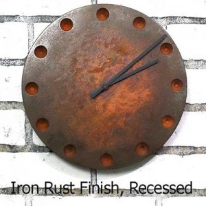 Industrial Age Wall Clock in Iron Rust Finish