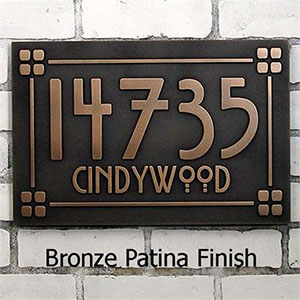 A custom address plaque for your holiday home