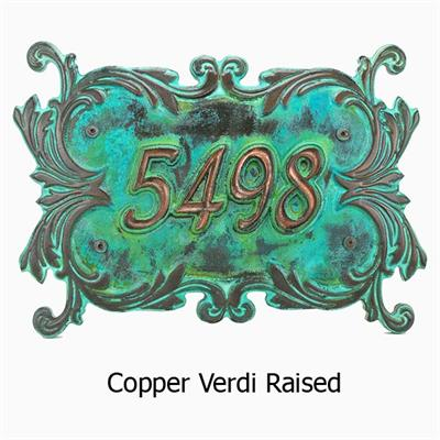 Ornate Victorian 3D Address Plaque