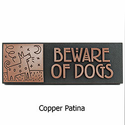 Humorous Beware of Dogs Plaque