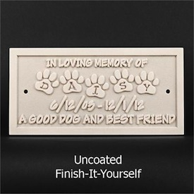 DIY Pet Memorial plaque