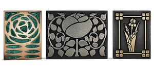 Arts and Crafts Style Floral Tiles
