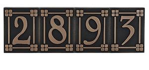 Individual Craftman House Number Tiles