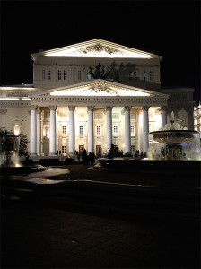 Recently renovated Bolshoi Theater