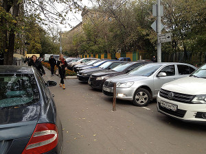 Cars in Moscow are the same as in Los Angeles