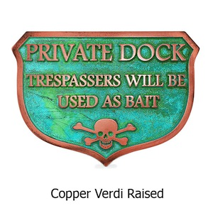 Hilarious Private Dock Sign