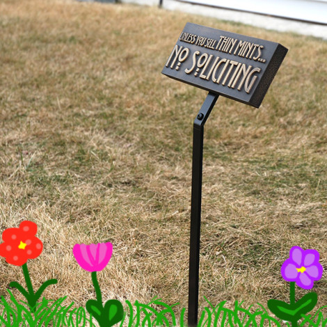 Ground mounting stake for signs and plaques