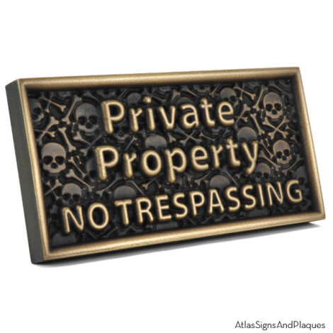 No Trespassing or Else! 3D Private Property Sign