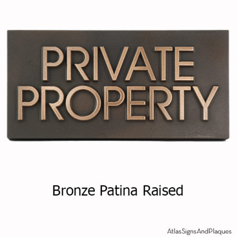 Private Property Sign with Modern Advantage Font