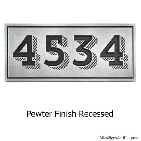 Trendy New Address Plaque