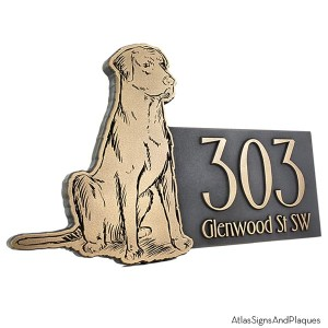 Dog Address Plaque