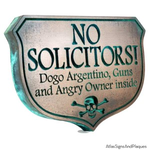 no solicitors sign by atlas signs and plaques