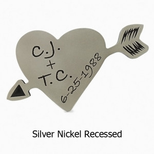 carved initials hanging tree silver nickel